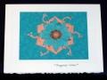 Turquoise Lotus Card